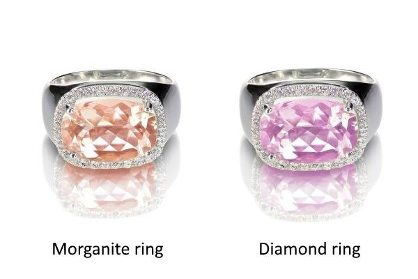 Morganite vs Diamond ring